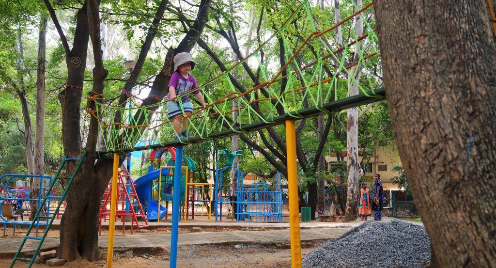 Playground, Bangalore with kids