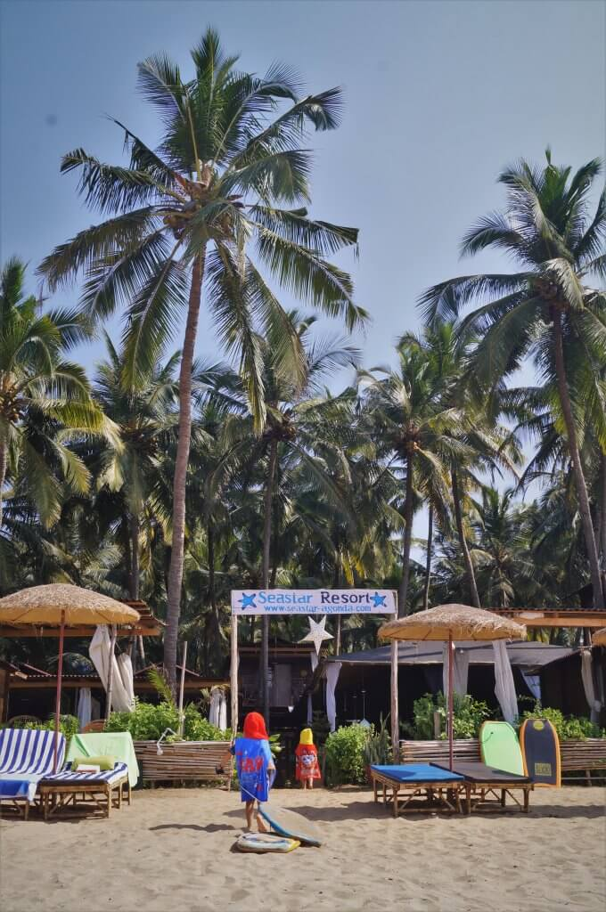 Agonda Beach, Goa with kids
