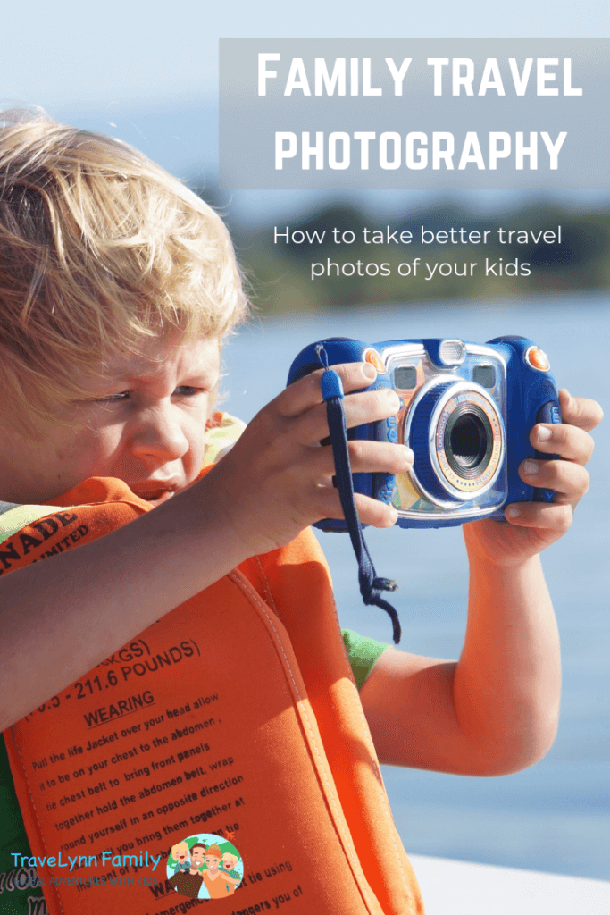 taking travel photos of your kids