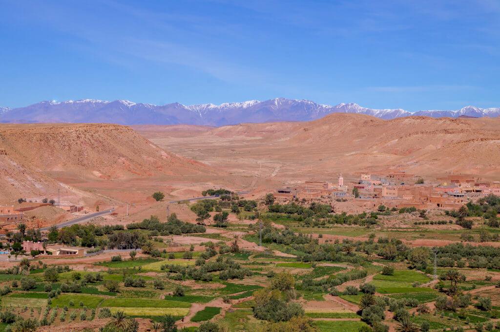 view from Aït Benhaddou
