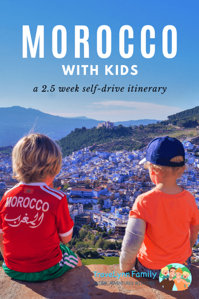 Morocco with kids pin