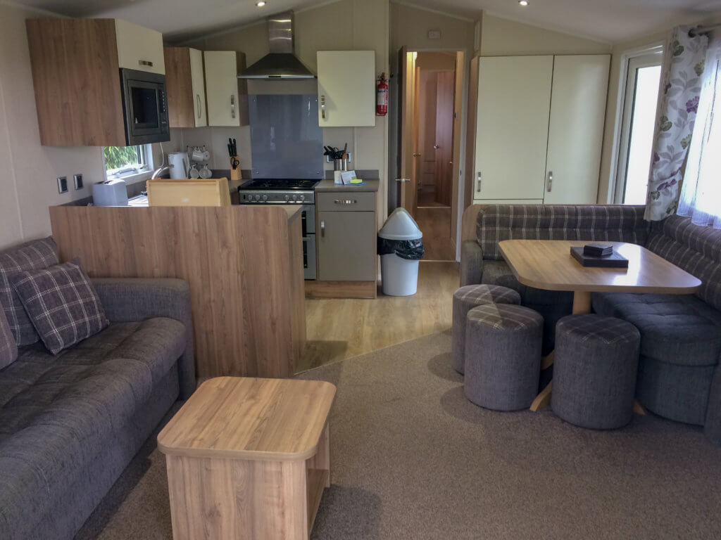 lounge of mobile home