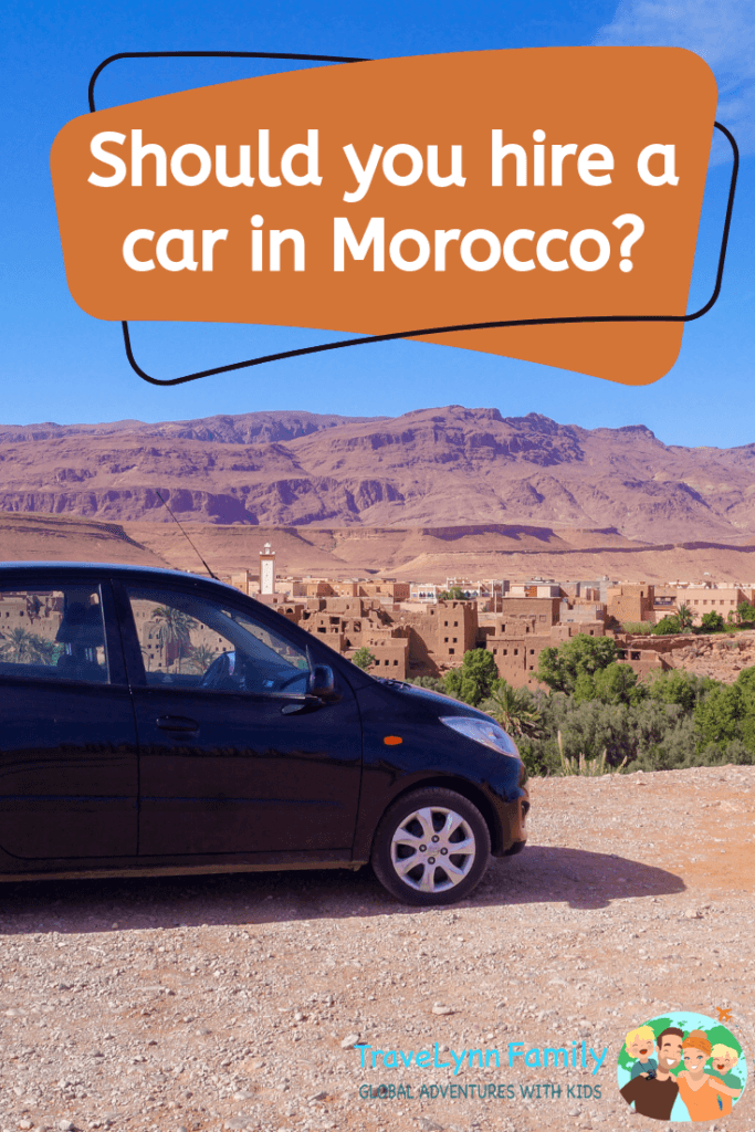 Morocco car hire pin