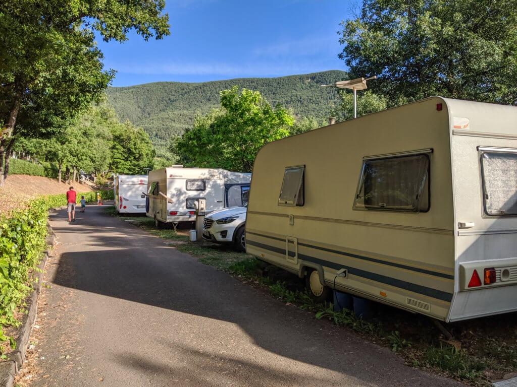caravans pitched at Camping Gavin