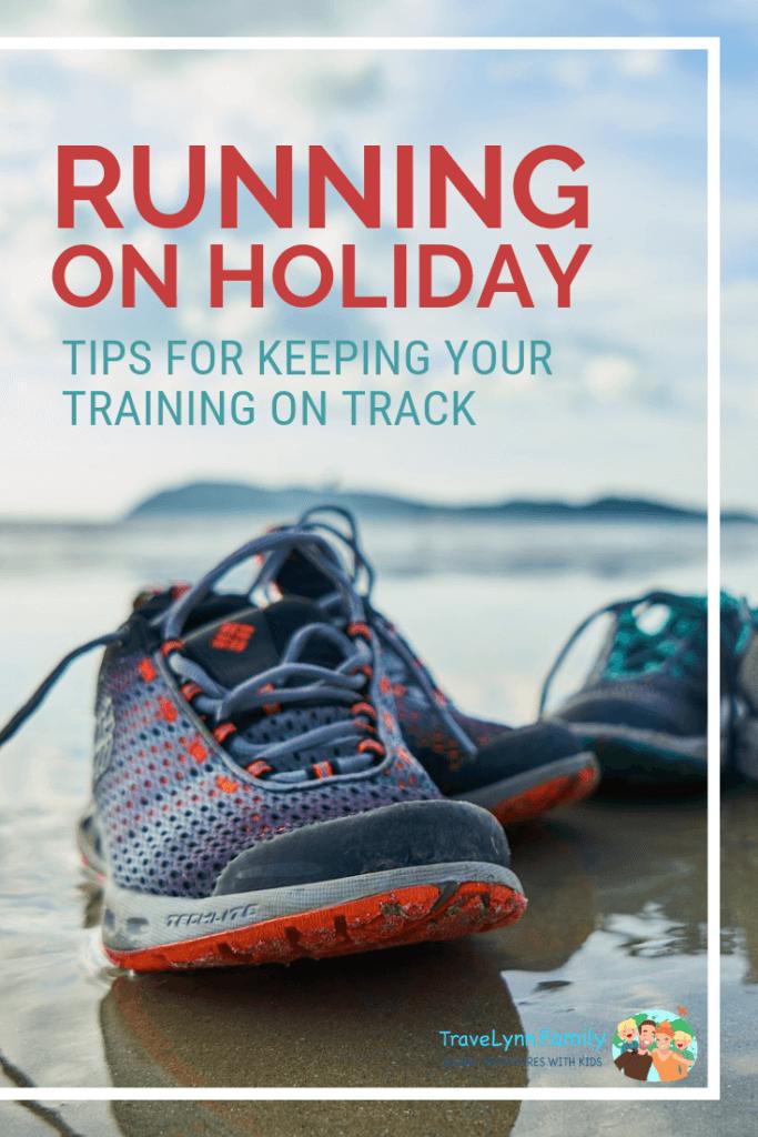 Running on holiday pin
