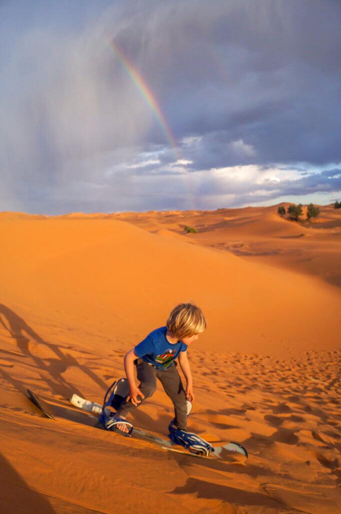 sandboadring in the Sahara