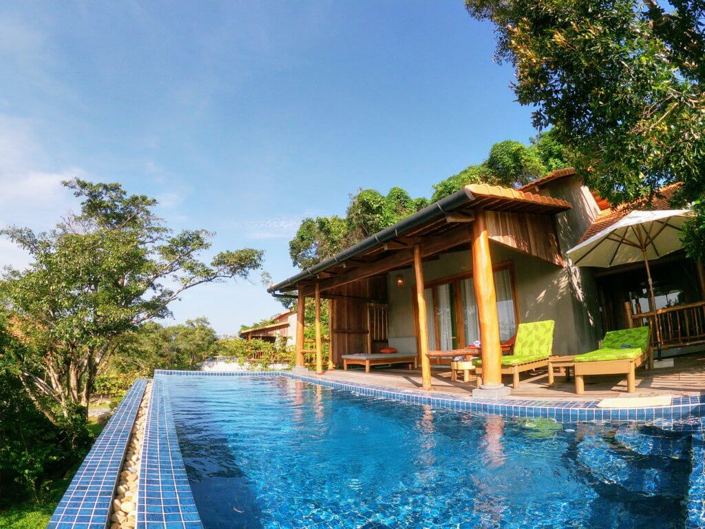 Oceanfront Pavilion with Private Pool, Green Bay Resort Phu Quoc