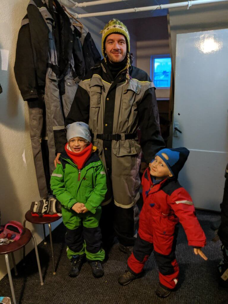snowsuits to provide protection from dogs and added warmth