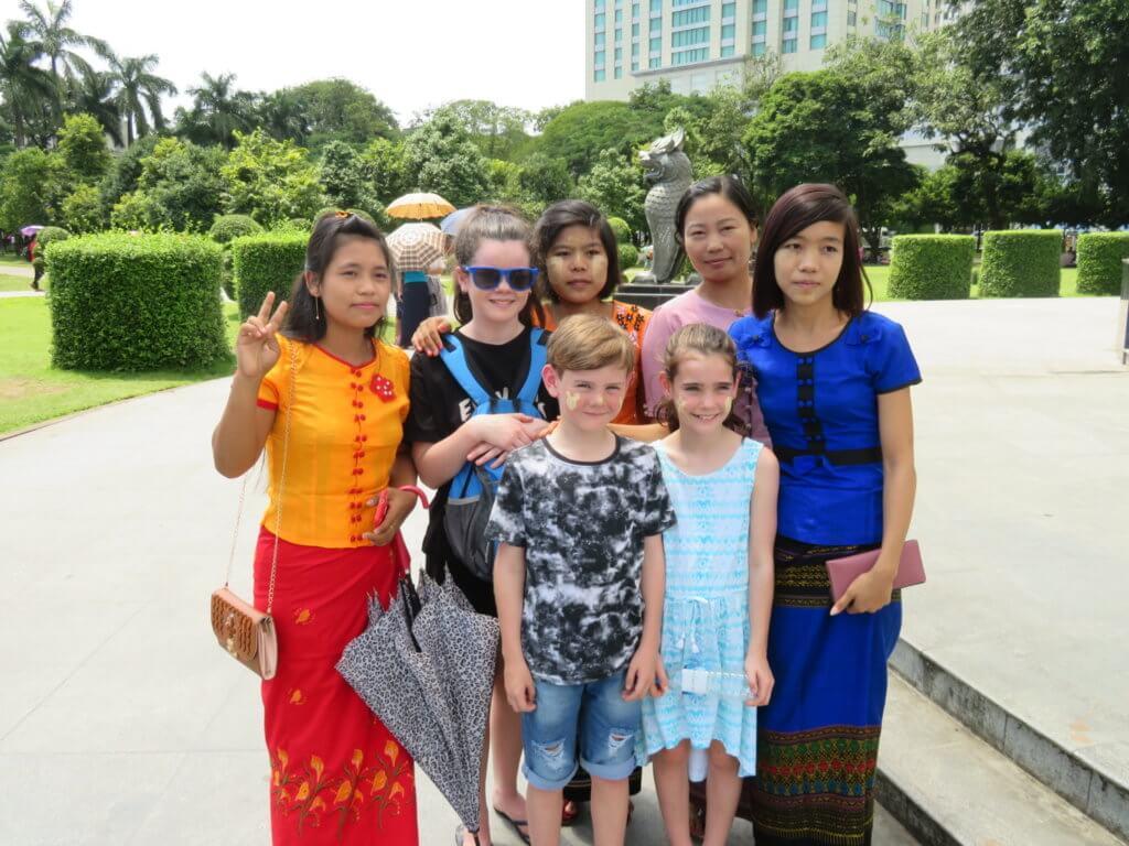 Meeting locals in Yangon