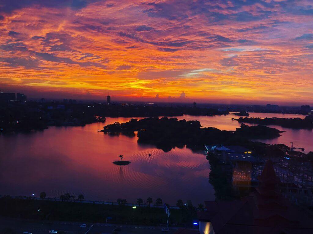 Sunset in Yangon