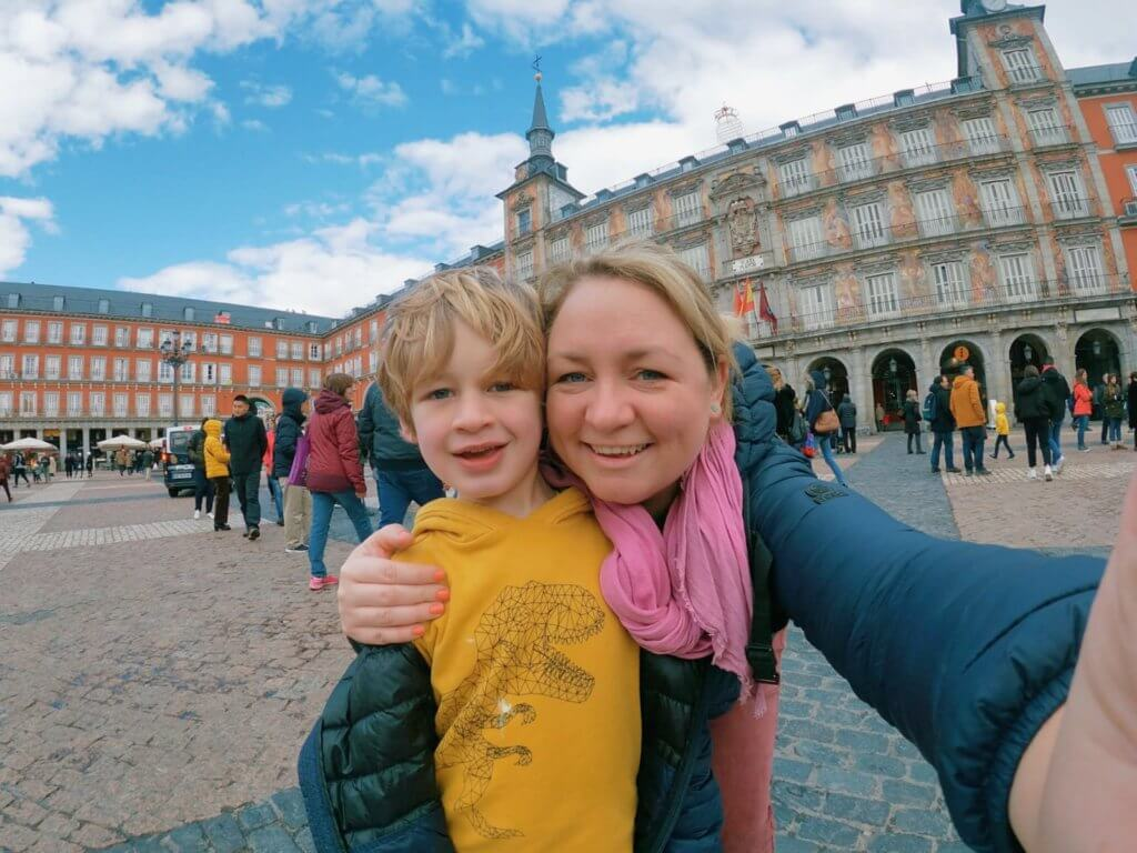 Arthur and I in Madrid