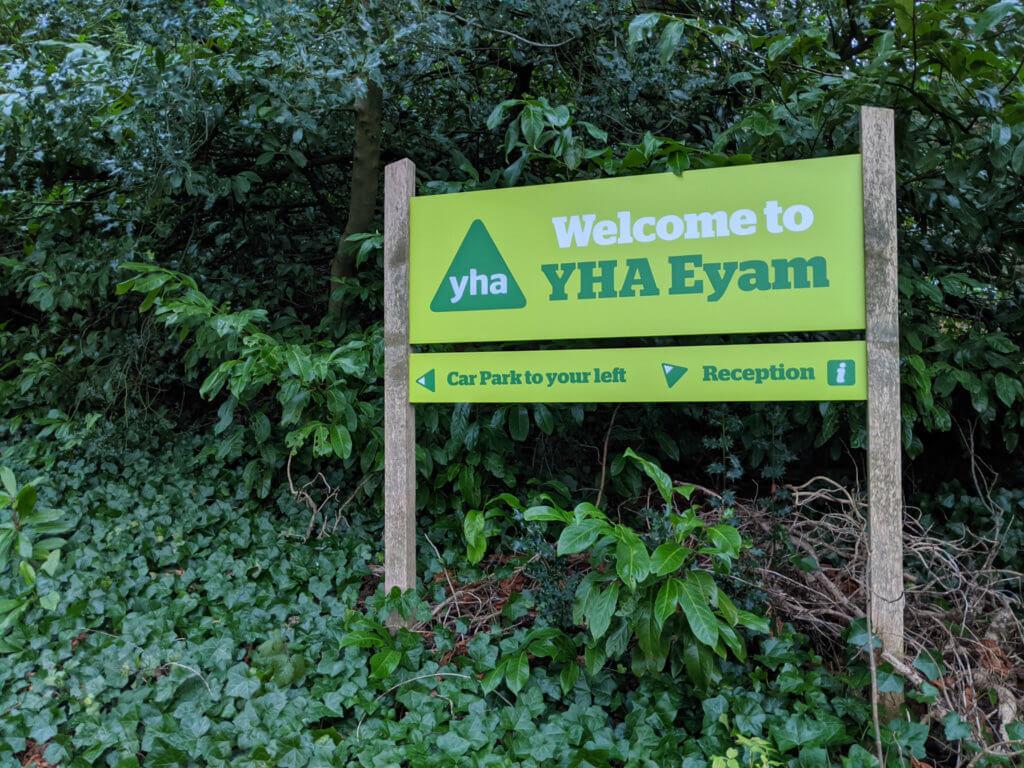 Entrance to YHA Eyam