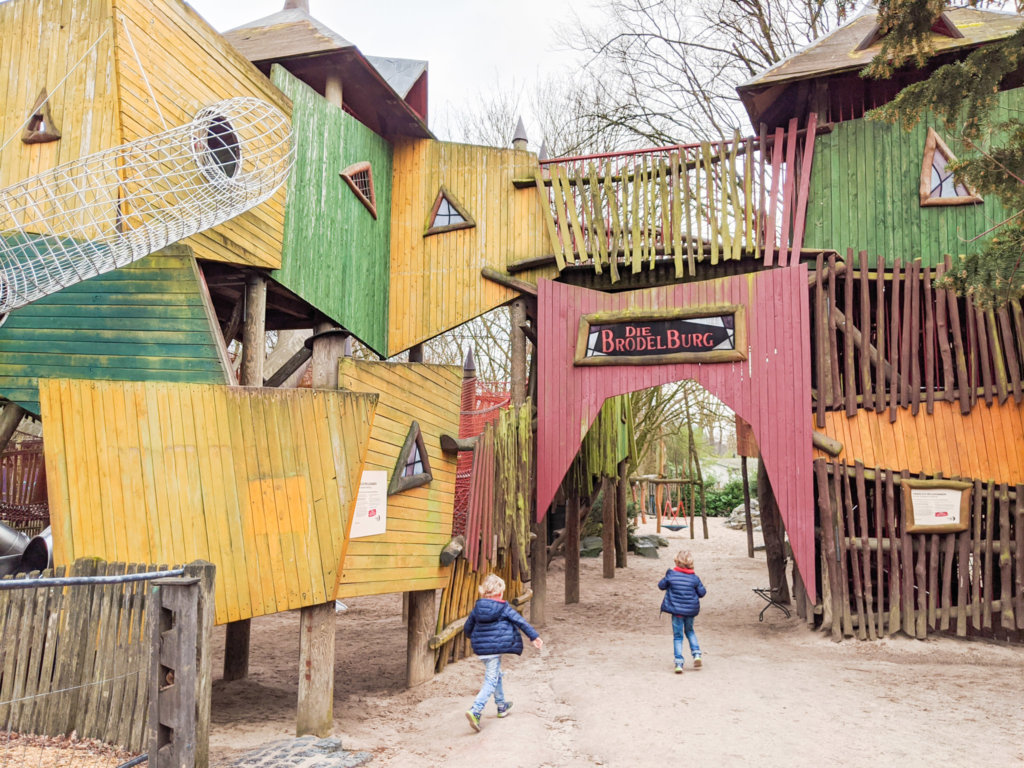 adventure playground at Hannover Zoo