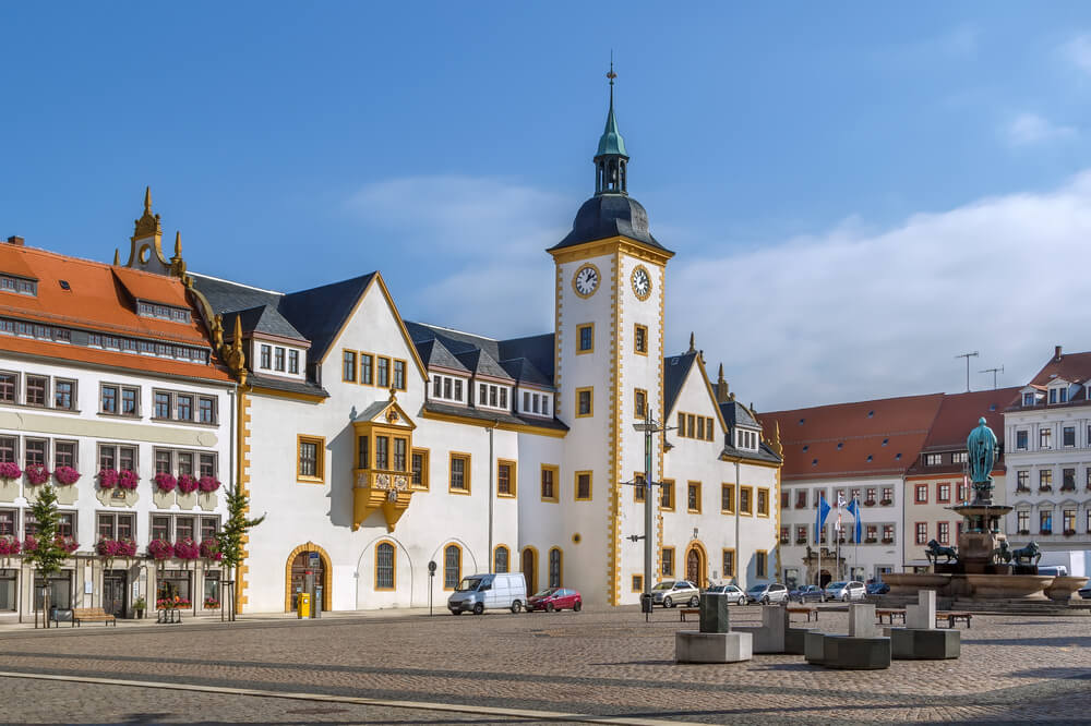 Freiberg town hall, Germany
