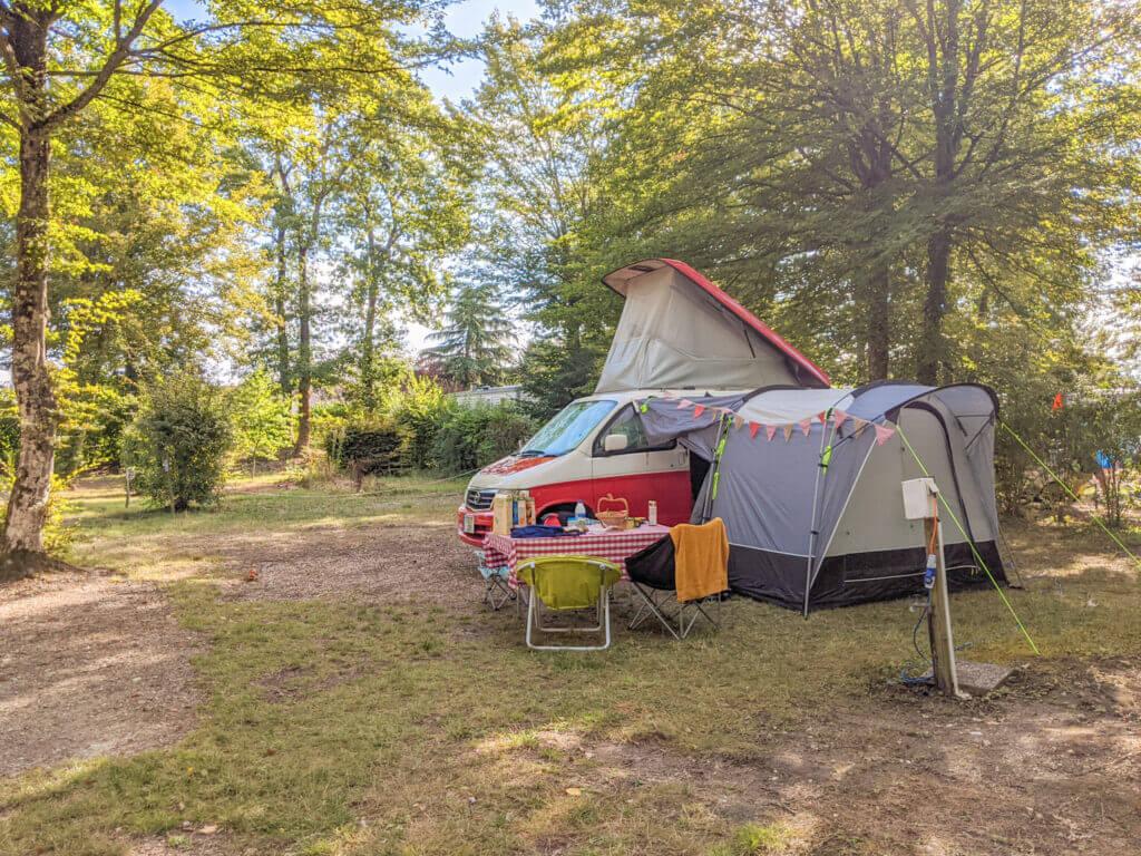 Bongo camper in the Loire