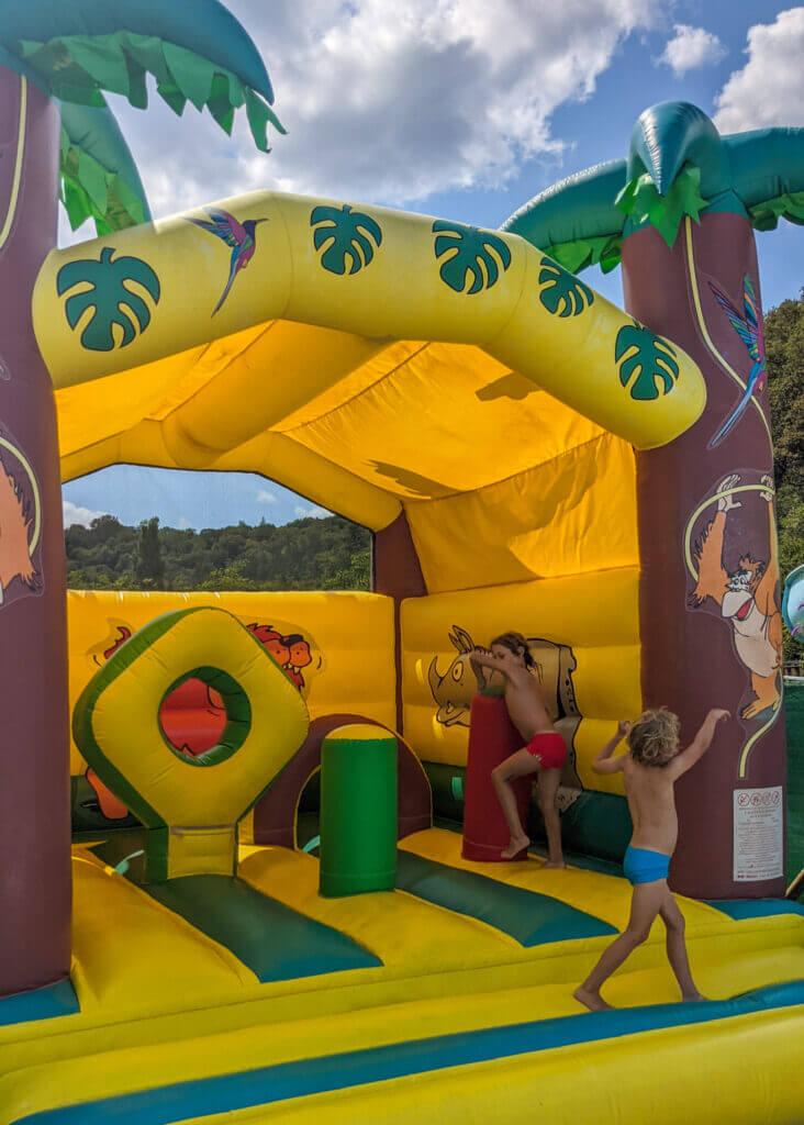 Le Moulin de Paulhiac Campsite Dordogne bouncy castle