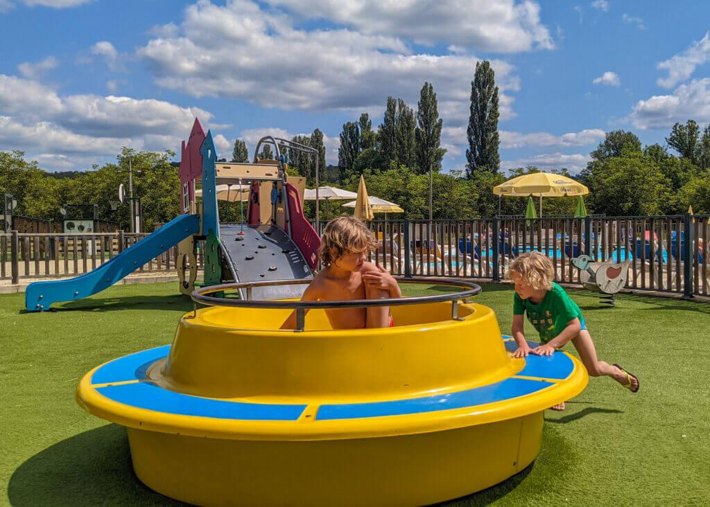 Le Moulin de Paulhiac Campsite Dordogne playground